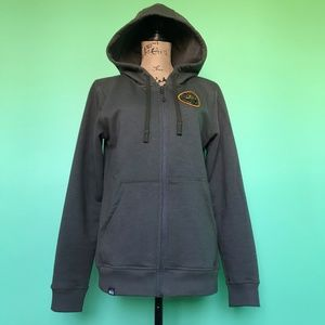 REI US National Parks Stone Gray Stretch Hoodie  M